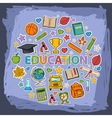 doodle education set vector image vector image