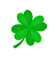 four-leaf clover for luck flat cartoon vector image