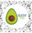 fresh avocado vegetarian food vector image vector image