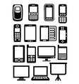 gadgets with screen vector image vector image