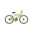 green bike modern bicycle vector image