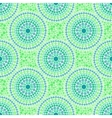 Green colors dotted circles seamless pattern vector image vector image