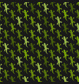 green lizards black background seamless pattern vector image