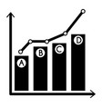 Grow up chart icon simple style