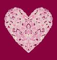 handdrawn zentangle heart mandala style design vector image vector image