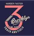 harder faster brooklyn vector image