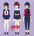 Hipster Girl vector image