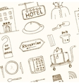 hotel seamless pattern doodle sketch vector image