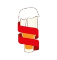 icon beer drink liquid isolated vector image