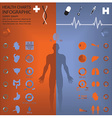 Medical And Health Infographic Infochart vector image vector image