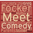 Meet The Fockers DVD Review text background vector image vector image