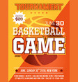 modern professional sports design poster with vector image vector image