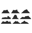 mountains black silhouettes for outdoor design or vector image