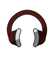 music headphones technology vector image