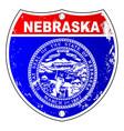 nebraska flag icons as interstate sign vector image vector image