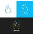 Number six 6 logo design icon set background vector image