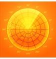 Orange radar screen vector image vector image