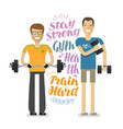 people in gym sport bodybuilding concept vector image vector image