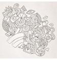 Photography doodles elements sketch background vector image