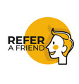 refer friend share information social media vector image vector image