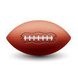 rugoval ball or american football equipment vector image