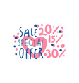 Sale special offer 15 20 30 percent off logo