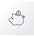 savings icon line symbol premium quality isolated vector image