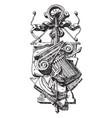 sculpture symbol degrees of subtlety vintage vector image vector image