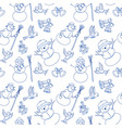 seamless pattern in cartoon doodle style vector image