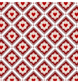 Seamless red hearts pattern vector image