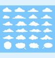 set cartoon clouds vector image