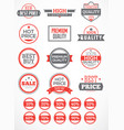 set labels and stickers vector image