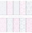 Set of ten seamless modern patterns vector image vector image