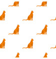 sitting cat pattern seamless vector image