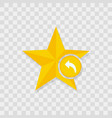 star icon arrow backward icon vector image vector image