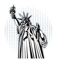 statue liberty american symbol new york vector image
