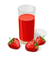 strawberry juice vector image vector image