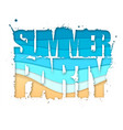 summer party typography poster with beach vector image vector image