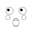 surprised face emoji icon image vector image