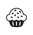Sweet cupcake Icon design on white vector image vector image
