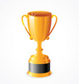 tall gold shiny trophy cup vector image vector image
