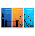 Templates banners for tourism in London vector image vector image