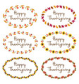 thanksgiving graphics with oval frames vector image vector image