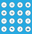 trade colorful icons set collection of statistics vector image vector image