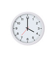 white round wall clock showing 16 oclock vector image vector image