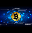 abstract bitcoin digital currency background vector image