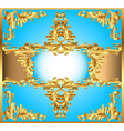 blue background painting frame vector image