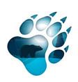 bear cartoon paper landscape vector image
