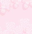 pink strawberry yoghurt seamless pattern vector image