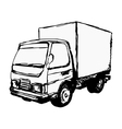 small truck vector image